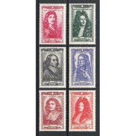 france, 1944, célébrités & personnages célèbres du 17ème siècle, n°612 à 617, neufs.