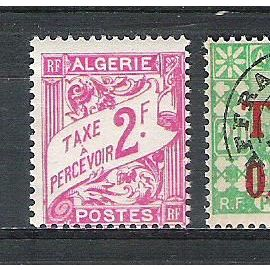 algérie, 1926-1928, 1944, 1947, timbres-taxe, n°10 + 28 + 33 + 34, neufs.