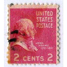 Timbre des USA - United States Postage - 2 cents 2 - John Adams 1797-1801) (Album C-4).
