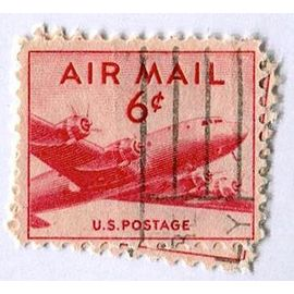 Timbre des USA oblitéré - U.S. Postage - Air Mail 6 c - (Album C-4).