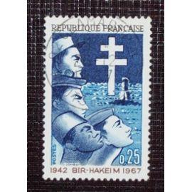 FRANCE N° 1532 oblitéré de 1967 - 25c « 25ieme anniversaire de la Victoire de Bir-Hakeim »