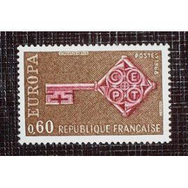 FRANCE N° 1557 neuf sans charnière de 1968 - 60c « Europa »