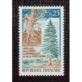 FRANCE N° 1561 neuf sans charnière de 1968 - 25c « Jumelage de la forêt de Rambouillet et de la Forêt Noire »