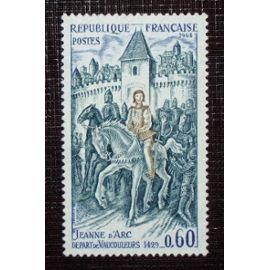 FRANCE N° 1579 neuf avec charnière ou trace de 1968 - 60c « Jeanne d¿Arc, départ de Vaucouleurs (1429) »
