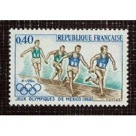 FRANCE N° 1573 neuf sans charnière de 1968 - 40c « Jeux Olympiques de Mexico »