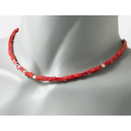 collier homme rouge