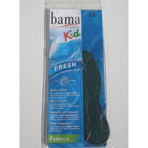 Bama Fresh Deo Active Kids Lot de 3 semelles pour chaussures pour enfant hygi/éniques et fraiches Noir