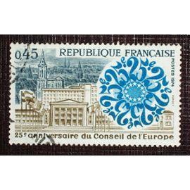 FRANCE N° 1792 oblitéré de 1974 - 45c « 25e anniversaire du Conseil de l'Europe »