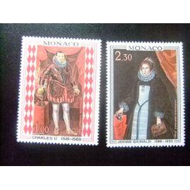 MONACO 1968 CARLOS II Y JEANNE GRIMALDI Yvert &Tellier nº 770 - 771 ** MNH