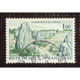FRANCE N° 1440 oblitéré de 1965 - 1f00 « Alignements de Carnac »