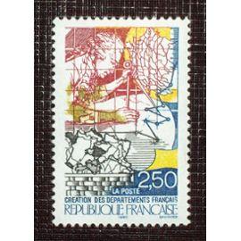 FRANCE N° 2670 neuf sans charnière de 1990 - 2f50 « Bicentenaire de la Révolution : Création des départements français »