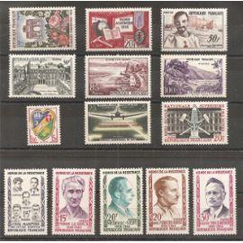 1189 à 1202 (1959) Série de timbres neufs N* (côte 28,5e) (3140)