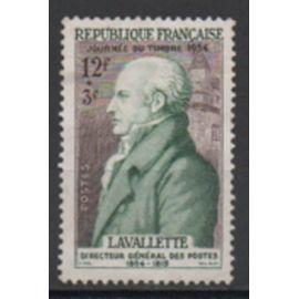 France 1954: Timbre pour la journée du timbre N° 969, portrait du comte de La Valette.