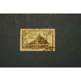 FRANCE N° 260 oblitéré de 1929 - 5f brun « Mont-Saint-Michel »
