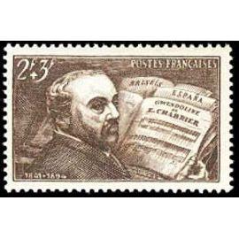 france 1942, très bel exemplaire yv 542 - chabrier au piano d