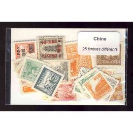 Chine 25 timbres différents