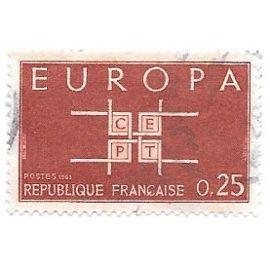Timbre oblitéré n°1396,année 1963.Europa.