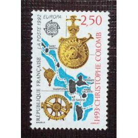 FRANCE N° 2755 neuf sans charnière de 1992 - 2f50 « Europa : 500ieme anniversaire de la découverte de l'Amérique par Christophe Colomb »