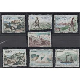 Monaco 1960: Série de 7 timbres taxe représentant une rétrospective des moyens de transport.