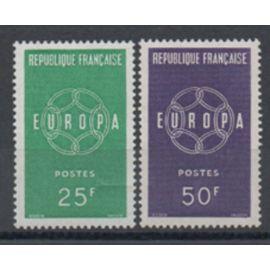 France 1959: Série de 2 timbres Europa de l