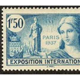 france 1937, très bel exemplaire yv. 336, publicité pour l