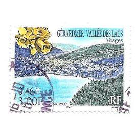 Timbre oblitéré de2000,n°3311.Gérardmer-Vallée des lacs(Vosges).