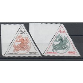 Monaco 1980: Série de 2 timbres taxe N° 71 et 72.