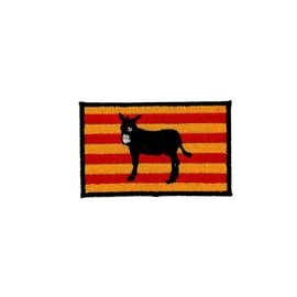 Patch ecusson brode thermocollant drapeau catalan catalogne ane burro backpack