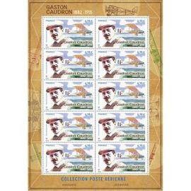 Poste aérienne - Gaston Caudron - 2015 - le timbre