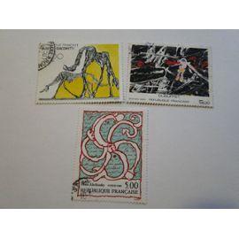 2381 - 2382 - 2383 - 3 TIMBRES OBLITERES SERIE ARTISTIQUE