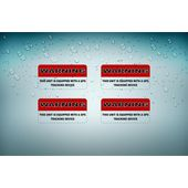 4x Autocollant Sticker Tuning Alarme Voiture Antivol Securite Gps Traceur Moto A