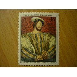 Timbre Neuf Portrait de François 1er par Jean Clouet - Yvert et Tellier 1518