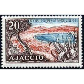 france 1954, très bel exemplaire yvert 981, vue de la baie d