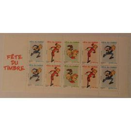 Bande carnet fête du timbre spirou 3877Ba année 2006 reprenant les timbres n° 3877 3878 3879 yvert et tellier (10 timbres à validité permanente)