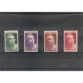 France 730 à 733 neufs**, série Marianne gravée. côte 21,5€