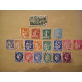 lot de 19 timbres de 358 à 376