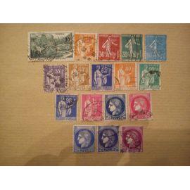 lot de 17 timbres de 358 à 376