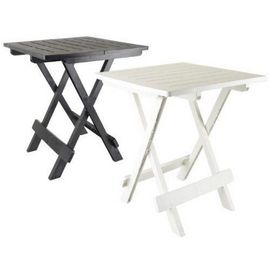 COULEUR NOIRE : TABLE APPOINT PLIANTE 50 X 45 X 43 CAMPING PORTABLE JARDIN  EXTERIEUR PLIABLE ref : 653
