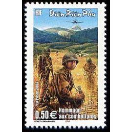 france 2004, très bel exemplaire yvert 3667, 50ème anniversaire de la bataille de diên biên phu au vietnam, hommage aux combattants, neuf** luxe