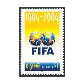 france 2004, très bel exemplaire yvert 3671, football, centenaire de la fifa, neuf** luxe