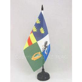 AZ FLAG Drapeau de Table Irlande 4 Provinces 21x14cm Petit Drapeaux DE Bureau Irlandais 14 x 21 cm