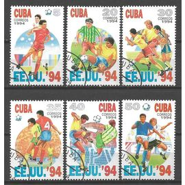 Football Cuba Série Complète (16) De 6 Timbres Oblitérés