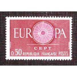 FRANCE N° 1267 neuf sans charnière de 1960 - 50c carmin et lilas « Europa »