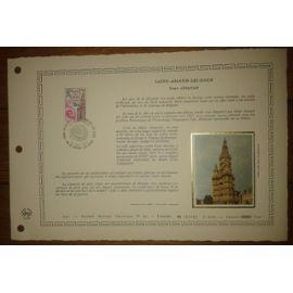 Document Artistique philatélique Cérès 1977 Feuillet n°297 Timbre France YT n°1948 Saint-Amant-Les-Eaux Oblitéré premier jour 17 Septembre 1977