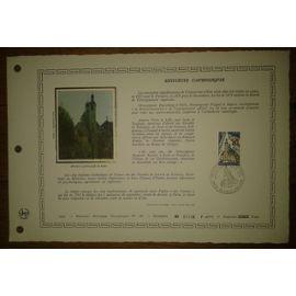 Document Artistique philatélique Cérès 1977 Feuillet n°282 Timbre France YT n°1933 Instituts Catholiques Oblitéré premier jour 14 mai 1977