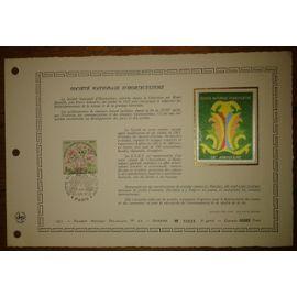 Document Artistique philatélique Cérès 1977 Feuillet n°279 Timbre France YT n°1930 Société Nationale d
