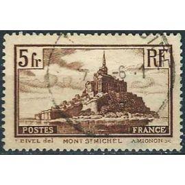 france 1929, bel exemplaire yvert 260, vue du mont saint michel, oblitéré, TBE
