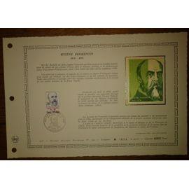 Document Artistique philatélique Cérès 1976 Feuillet n°244 Timbre France YT n°1897 Eugène Fromentin 1820-1876 Oblitéré premier jour 25 septembre 1976