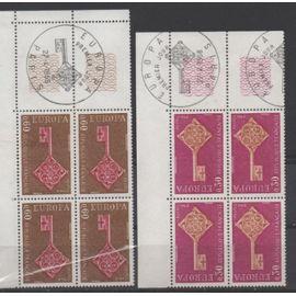 France 1968: Timbres Europa N° 1556 et 1557 émis en 1968 .