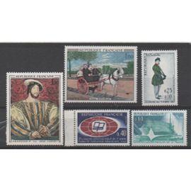 France 1967: Série de 5 timbres portant les N) de 1515 à 1519 inclus, émis en 1967.